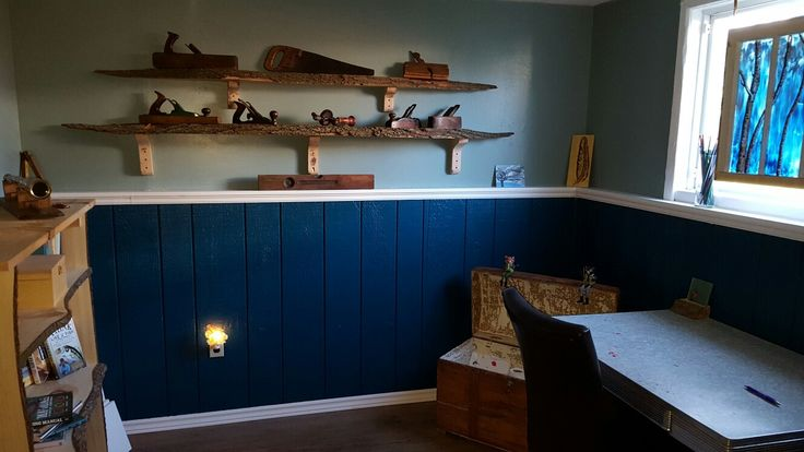 live edge oak shelves