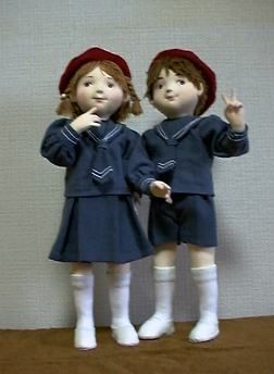 """Free Pattern: """"Friends"""" Soft dolls with clothing. about 13"""" tall"""