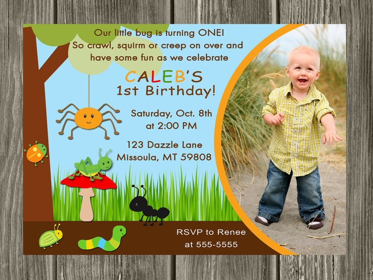 Bug Birthday Invitation  FREE thank you card by DazzleExpressions, $13.00