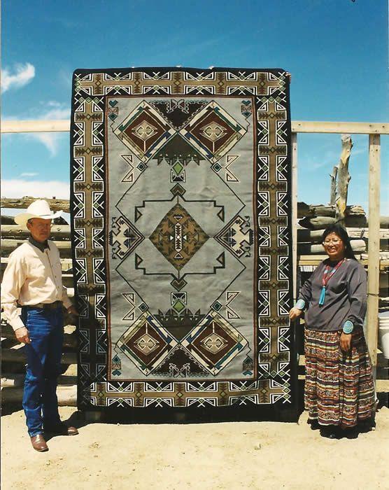Masterpiece Navajo Weaving by Linda Nez