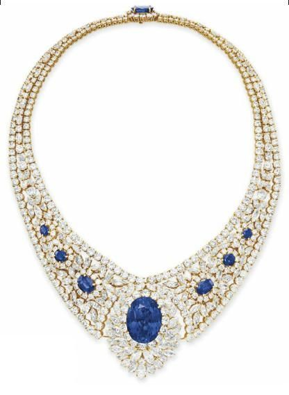 Sapphire and diamond necklace. Christie's.
