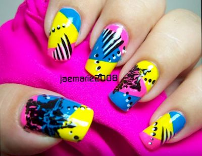 1980s-Inspired Nail Art Designs That Are A Blast From The Past