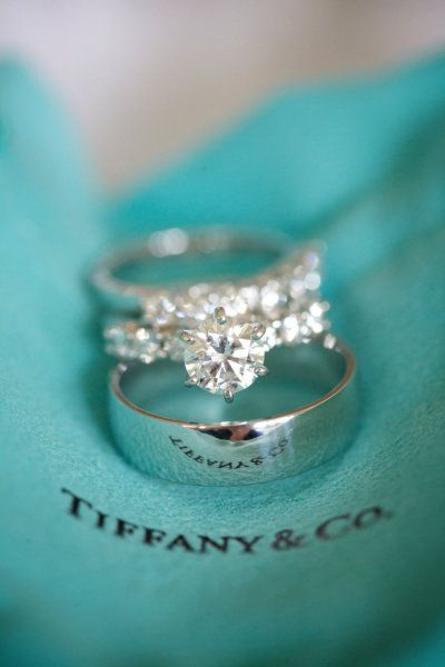 Tiffany and Co......It would be my best dream to receive this engagement ring, wedding band and get my future husband this band. Incentives