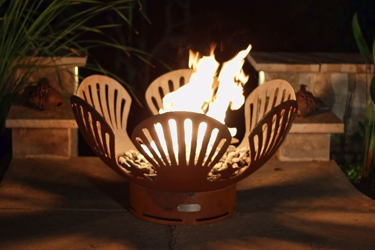 """Fire Pit Art Barefoot Beach 36"""" Natural Gas or Propane Fire Pit"""