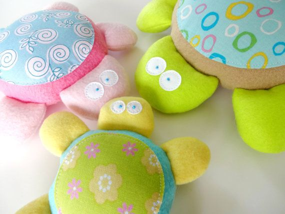 Baby Turtle Softies Toy Sewing Pattern PDF by preciouspatterns