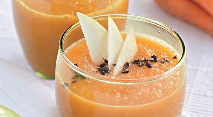 Морковный суп-пюре с яблоками