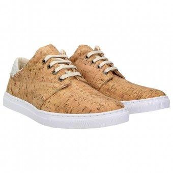 ZWEIGUT® echt #402 Kork Schuhe Herren Halbschuhe Sneaker, vegan + nachhaltig aus echtem Kork Farbe: grau-kork