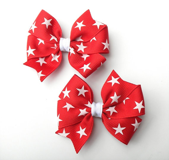 cute in 4th of july bows