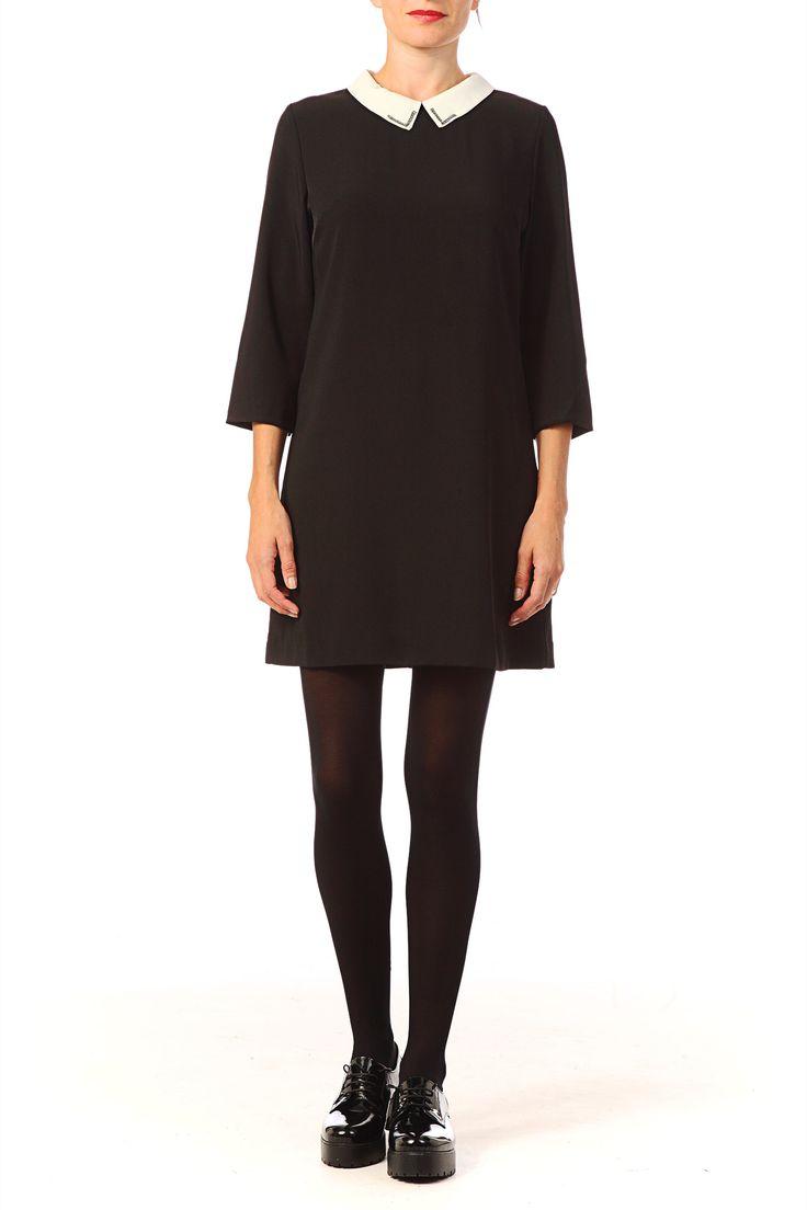17 meilleures id es propos de robe noire col claudine sur pinterest robe col claudine grain. Black Bedroom Furniture Sets. Home Design Ideas
