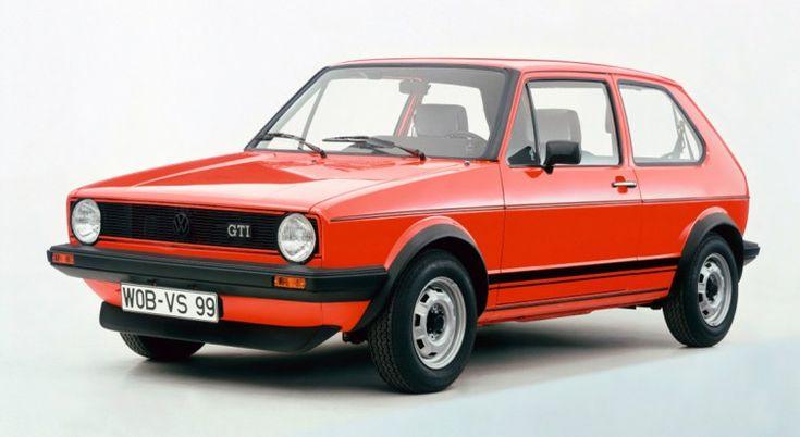 Volkswagen Golf GTI -  Produite à partir de 1974, elle a lancé une dynastie qui a attent à 8e génération et la mode des GTI. Le tout sans être élue voiture de l'année à sa sortie