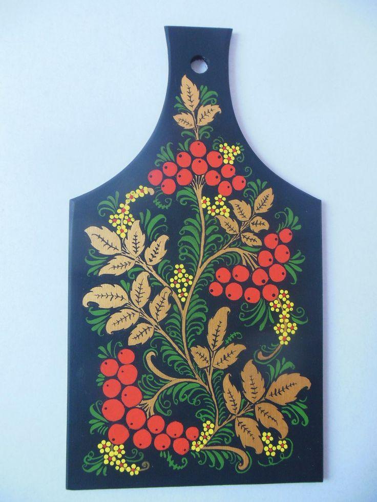 Картинки доска хохломская роспись