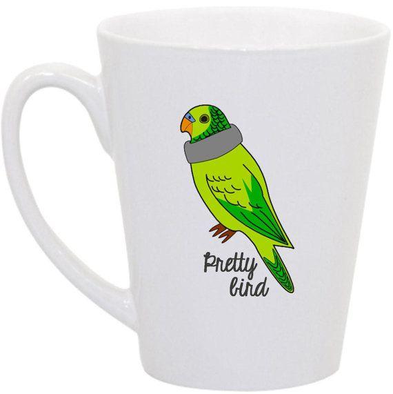 "Perks of Aurora- Dumb and Dumber inspired ""Pretty Bird"" Petey coffee mug  Dumb and Dumber, Dumb and Dumber quotes, Petey the parakeet, Pretty Bird"