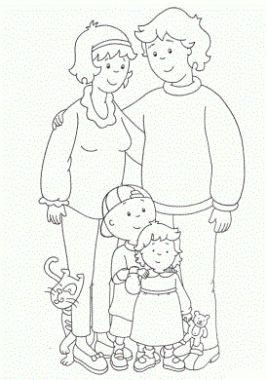 dibujo para colorear de la familia para colorear
