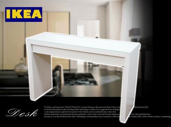 Nordic Desk 3HB24C 美品 IKEA イケア シンプルワークデスク 北欧 インテリア 雑貨 家具 Modern ¥5000yen 〆05月26日