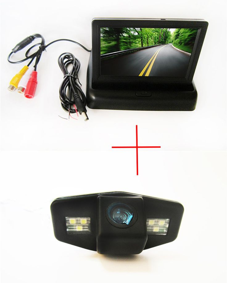 best price color car chip rear view camera for honda accord pilot civic odyssey acura tsx 4 3inch foldable #pilot #cars