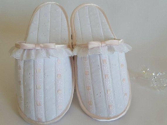 ZAPATILLAS  LENCERIA-mujer-talla G-conjunto bolsa y zapatillas-chinelas para mujer hechas  de batista-zapatillas viaje-cómodas-suaves ZA01