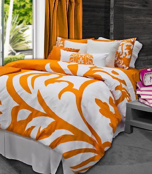 Like this one but with bright blue sheets and pillows