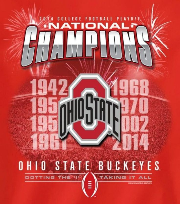 2014 COLLEGE FOOTBALL PLAYOFF NATIONAL CHAMPIONS OHIO STATE BUCKEYES DOTTING THE I, TAKING IT ALL!