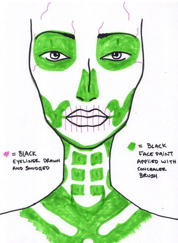 MrKate_skeleton_makeup_template                                                                                                                                                                                 More