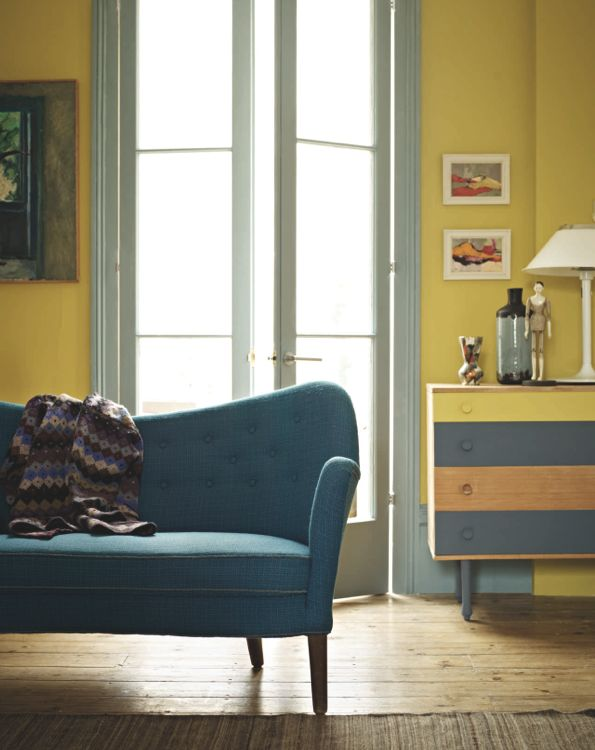 Like the trim painted in contrasting color! Fired Earth's New Paint Collection 2012 – Bright.Bazaar