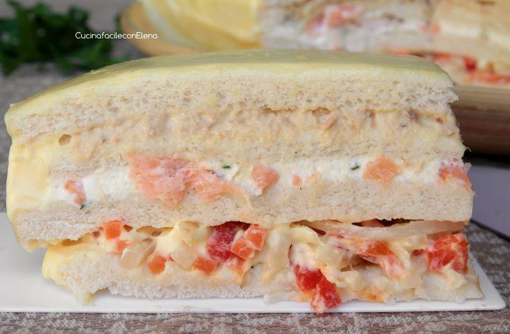 La Torta Tramezzino è un antipasto fresco e goloso senza cottura, facilissimo e velocissimo da realizzare, va sempre a ruba, scoprite come la preparo io! :)