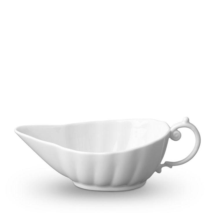 Lobjet aegean white gravy boat