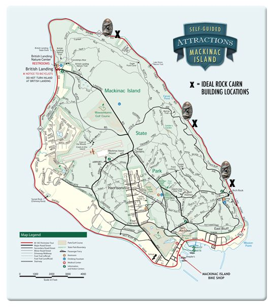 Mackinac Island Trail Maps for Self-Guided Bike Tour