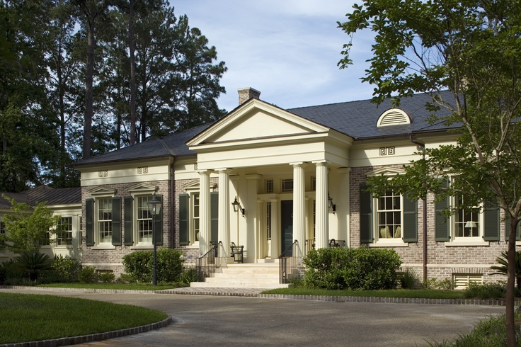 Georgia greek revival at the ford plantation in richmond for House plans georgia