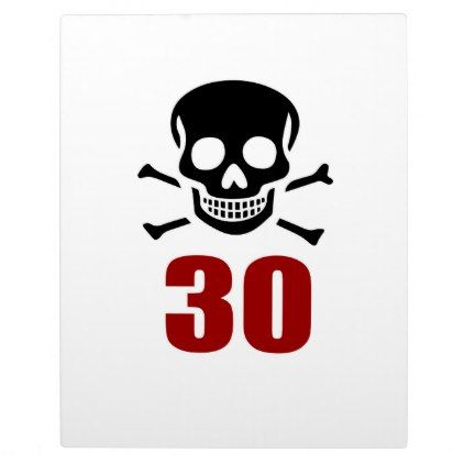 #30 Birthday Designs Plaque - #giftidea #gift #present #idea #number #thirty #thirtieth #bday #birthday #30thbirthday #party #anniversary #30th