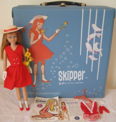 Vintage Skipper, Carry Case wearing Red Sensation Outfit