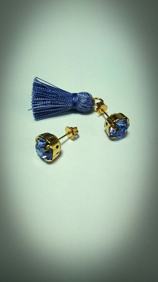 tassel pierced earrings...lavender...*