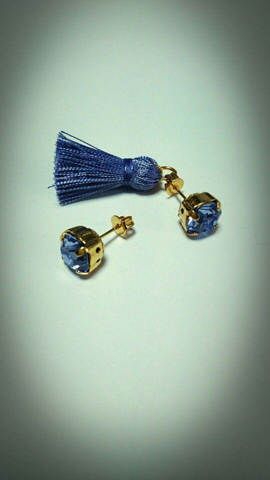 tassel pierced earrings...lavender...*