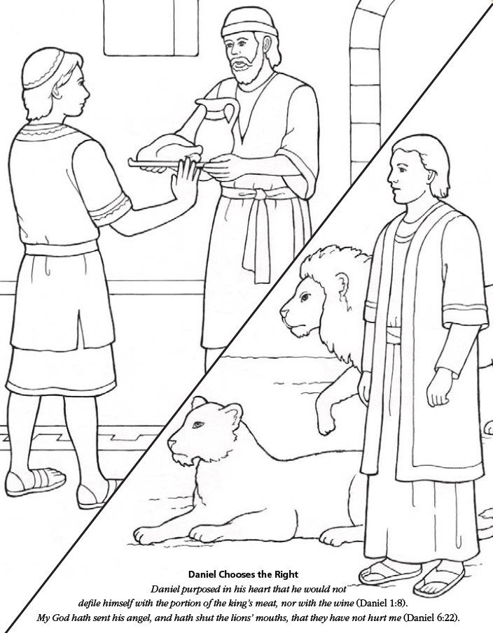 Daniel 1 20 Coloring Pages