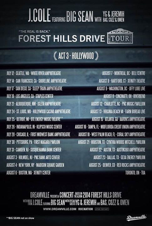 J Cole To Embark On International 'Forest Hills Drive' Tour Beginning March - Parlé Magazine — The Voice of Urban Entertainment