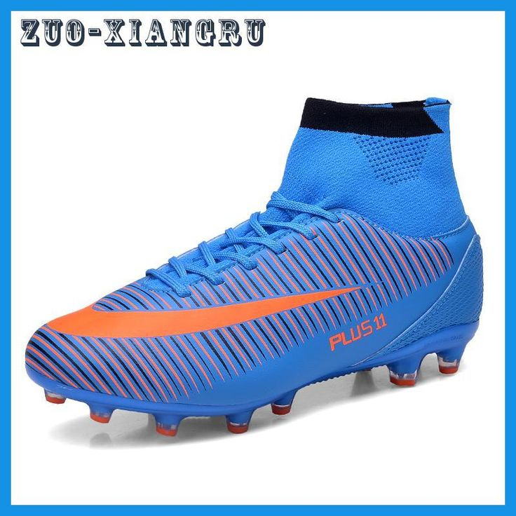 Men Soccer Shoes Indoor Futsal Shoes With Socks Professional Trainer TF Football Boot high ankle Zapatillas Futbol Sala Hombre
