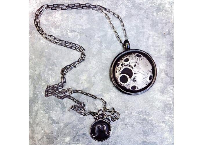 MYMI DESIGN JOYERIA: Collar Luna de Octubre, bronce.