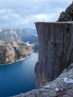 Pulpit Rock, Stavanger Norway. Absolutely beautiful! This is where my Great Grandmother came to America from.