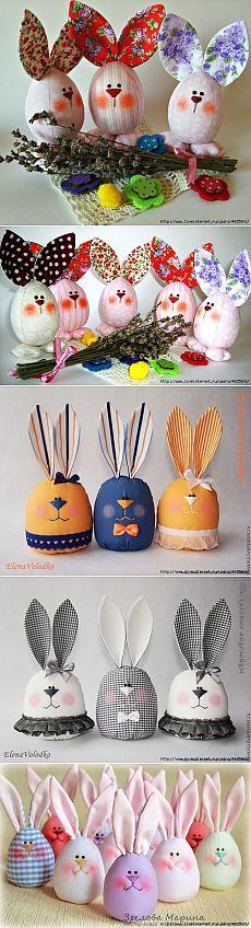 Cosa conejos de Pascua huevos divertidos. Ideas y clase maestra.