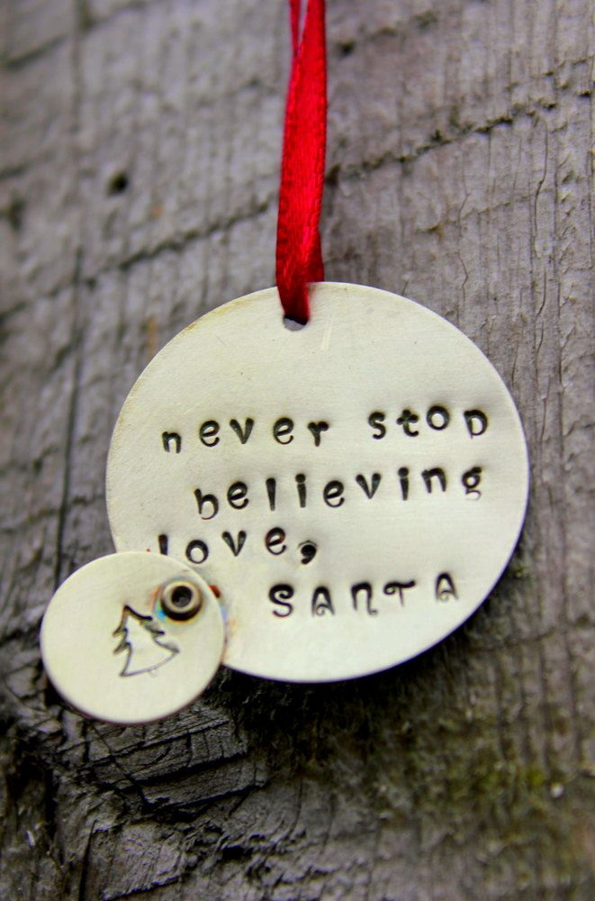 We believe!   Christmas Decor Kids Children Ornament, Personalized Ornament Holidays Gift Kids, Holidays, Christmas, Letter From Santa, Holiday Home Decor