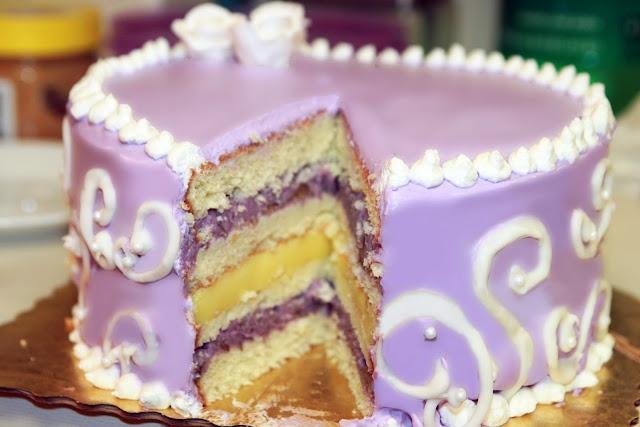 Sweet Taro Powder Cake Recipe