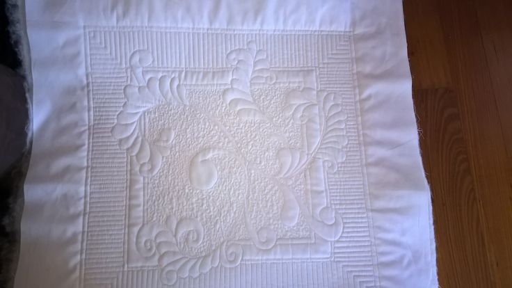 Part of my wholecloth quilt in progress