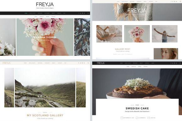 FREYJA-wordpress theme for bloggers by Ilgelo Design on Creative Market