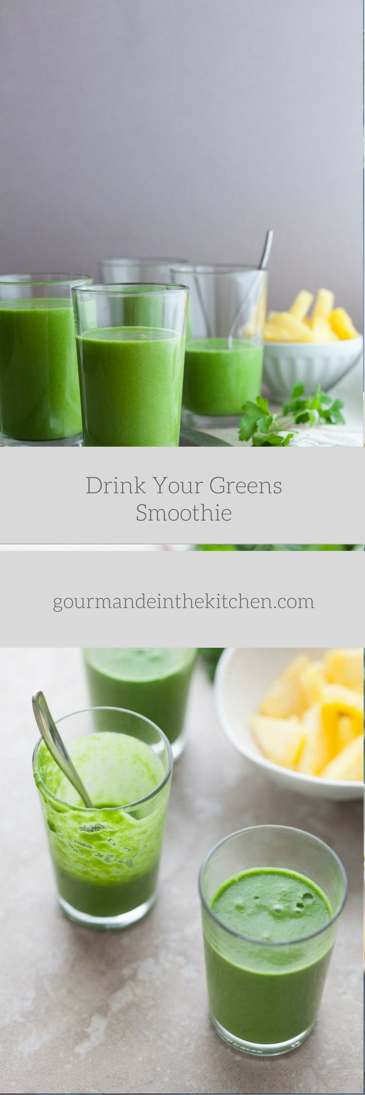 A green smoothie packed with nutrients featuring a trio of greens along with pineapple and coconut milk.  While December is a month filled with feasts and festivities the beginning of the yea…