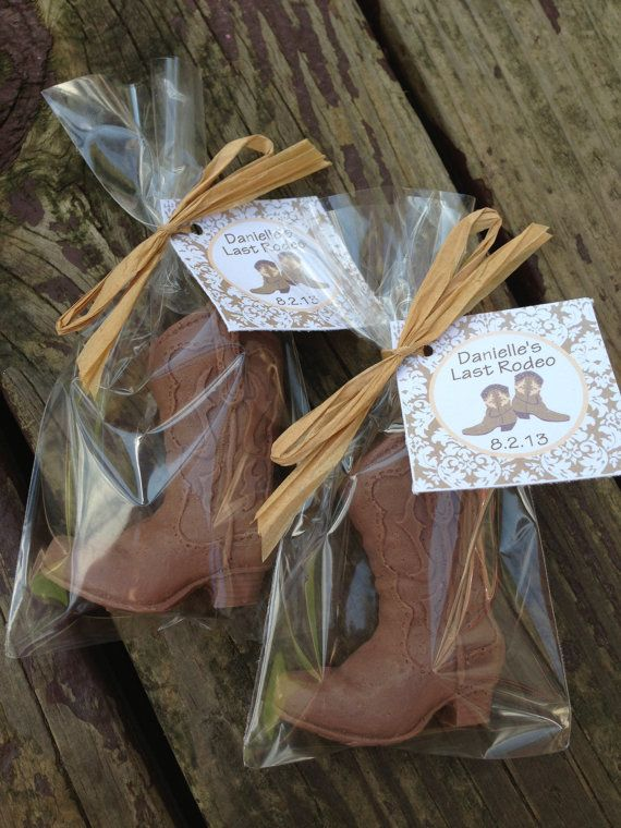 COWBOY BOOTS Soap favors mens cowboy birthday western by BBSoaps