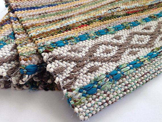Good Idea Rag Rug Hand Woven Swedish Rosepath by WarpedforGood