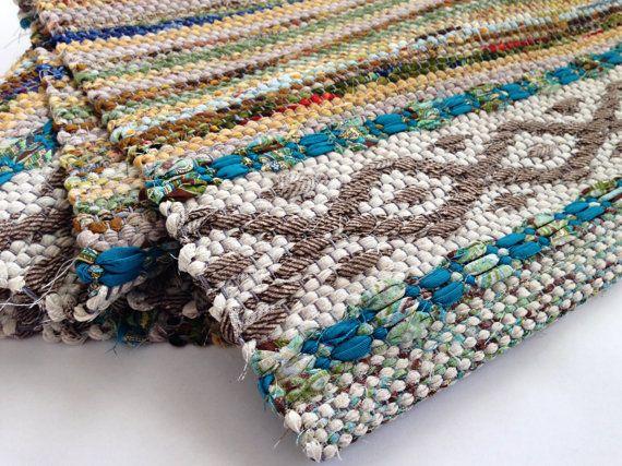 Good Idea Rag Rug Hand Woven Swedish Rosepath by WarpedforGood