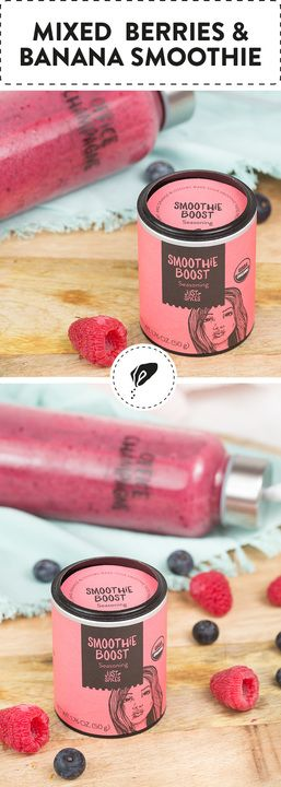 Mixed berries and banana smoothie-for breakfast, at lunchtime or dinner! This recipe is easy & healthy.