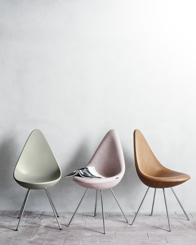 A Legendary Chair Makes a Comeback | DomaineHome.com // Arne Jacobsen Drop Chair