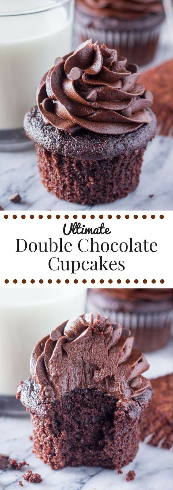 Double Chocolate Cupcakes | Cake And Food Recipe
