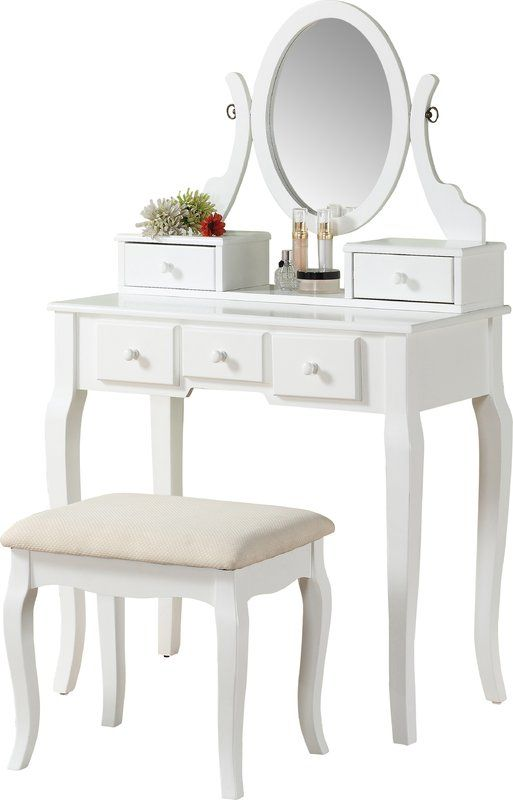 Zeke Wood Makeup Vanity Set With Mirror Vanity Set With Mirror Makeup Vanity Set Wood Makeup